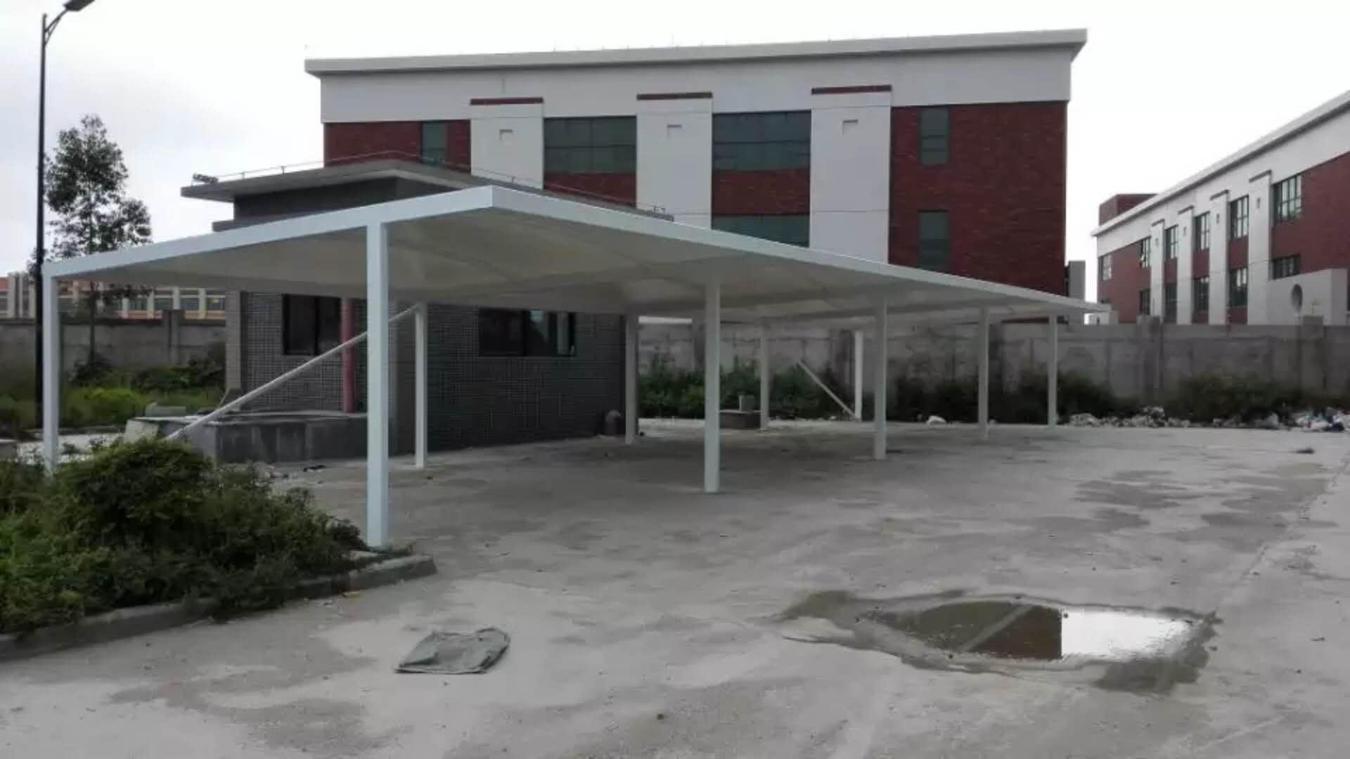 河浦大道旁永成油墨有限公司大型膜结构停车篷