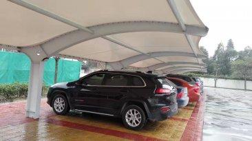 航天大厦膜结构停车棚