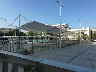 南澳健身广场充电桩膜结构停车棚